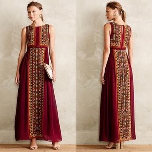 Anthropologie Bajwa Tanvi Kedia Maxi Dress